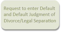 Button for Default Judgment Divorce