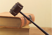close up photo of gavel and law books